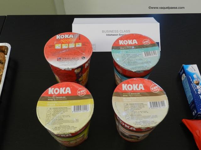 noodles, singapore airlines, business class