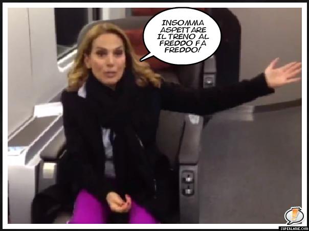 Barbara d'Urso protesta contro trenitalia