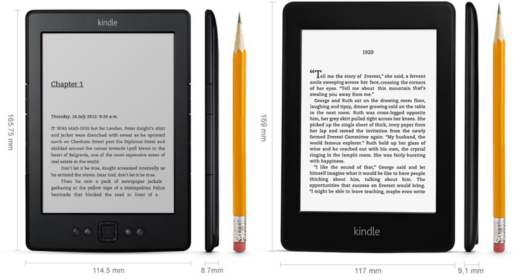 A sinistra il Kindle e dall'alta il Paperwhite: quale scegliereste?