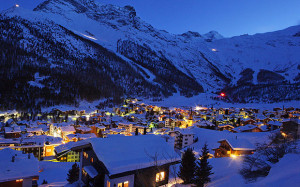 Saas Fee by night