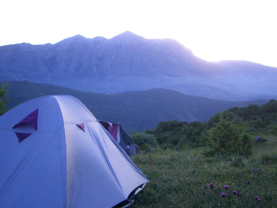 Una notte in tenda sul cammino dei briganti. (credits photo http://camminobriganti.wordpress.com)