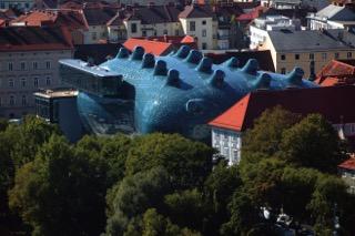 kunsthaus vista dall'alto