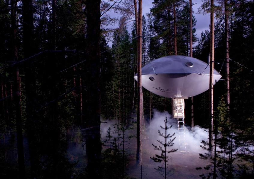 """L'""""ufo"""" al Treehotel (foto by treehotel.se)"""