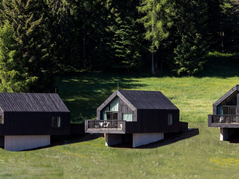 'eco hotel Pfoesl, con vista sulle Dolomiti