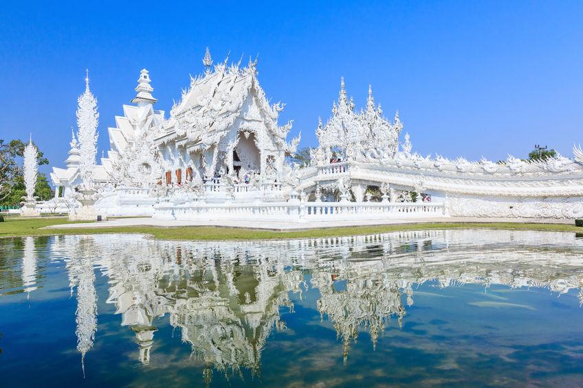 Wat Rong Khun, conosciuto come il Tempio Bianco, a Chiang Rai D