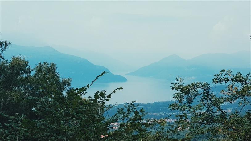 Il Belvedere a pochi minuti dal rifugio sul Lago Maggiore