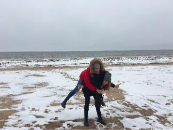 spiaggia jurmala inverno
