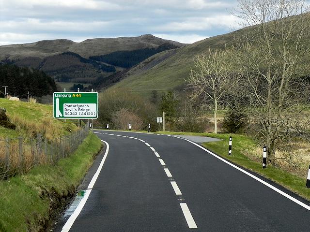 Ponterwyd mountain road