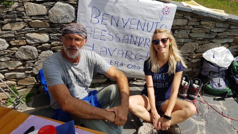 Alessandra Favaro e Matteo Guglielmini al Rifugio Dumenza