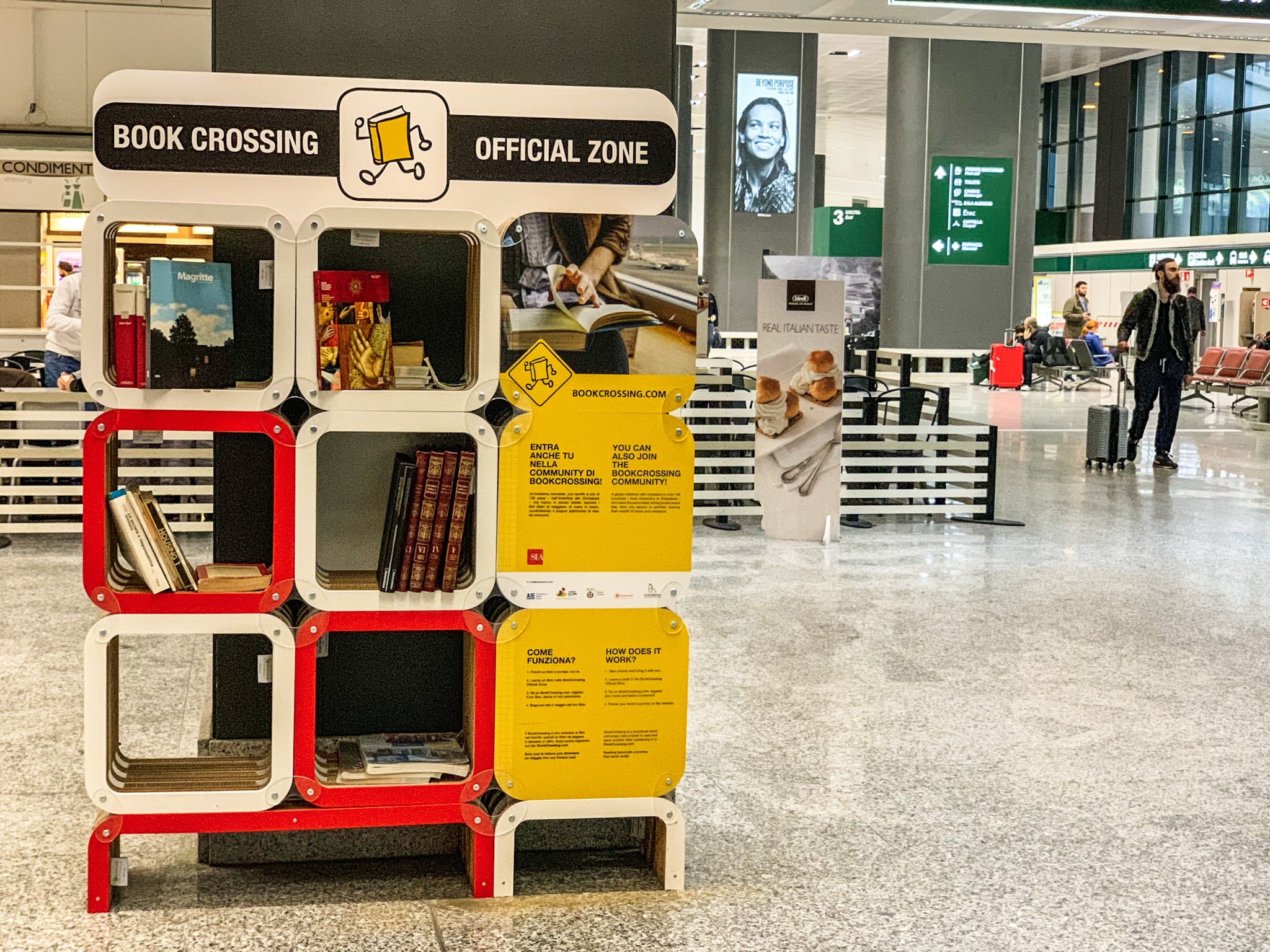 Il bookcrossing a Malpensa