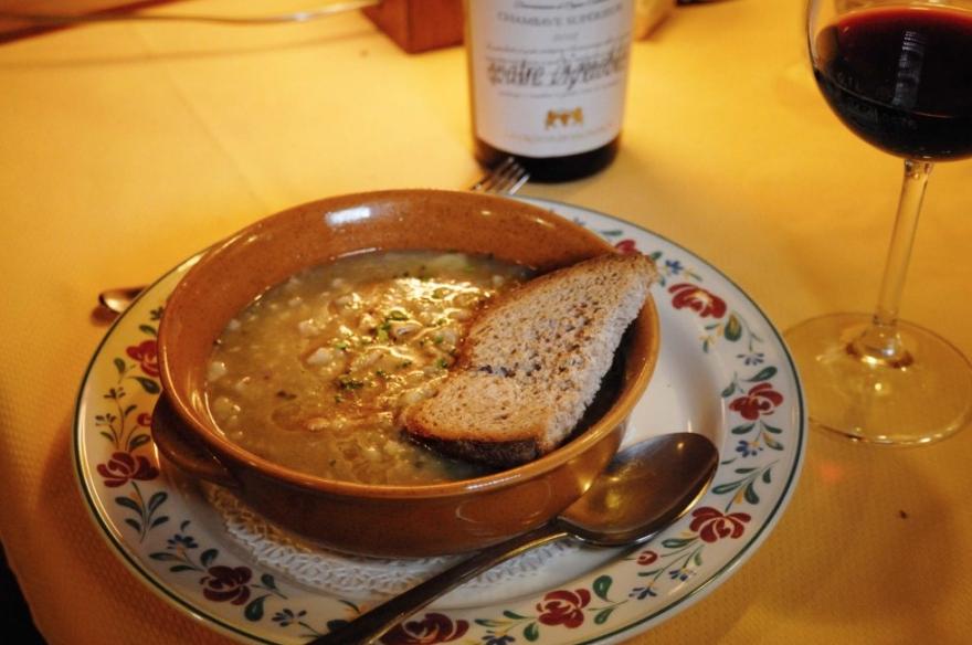 La zuppa Gran Paradiso