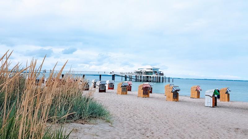 La caratteristica spiaggia di Travemunde
