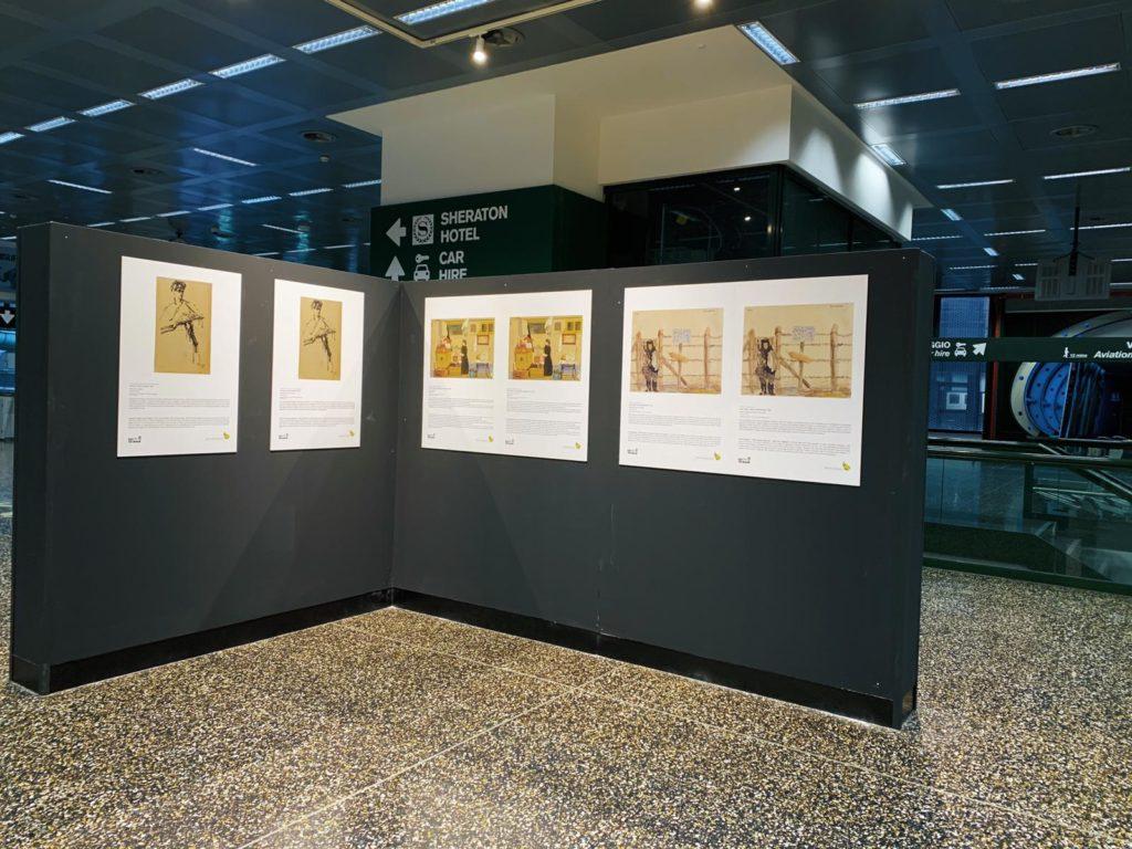opere mostra arte shoah malpensa