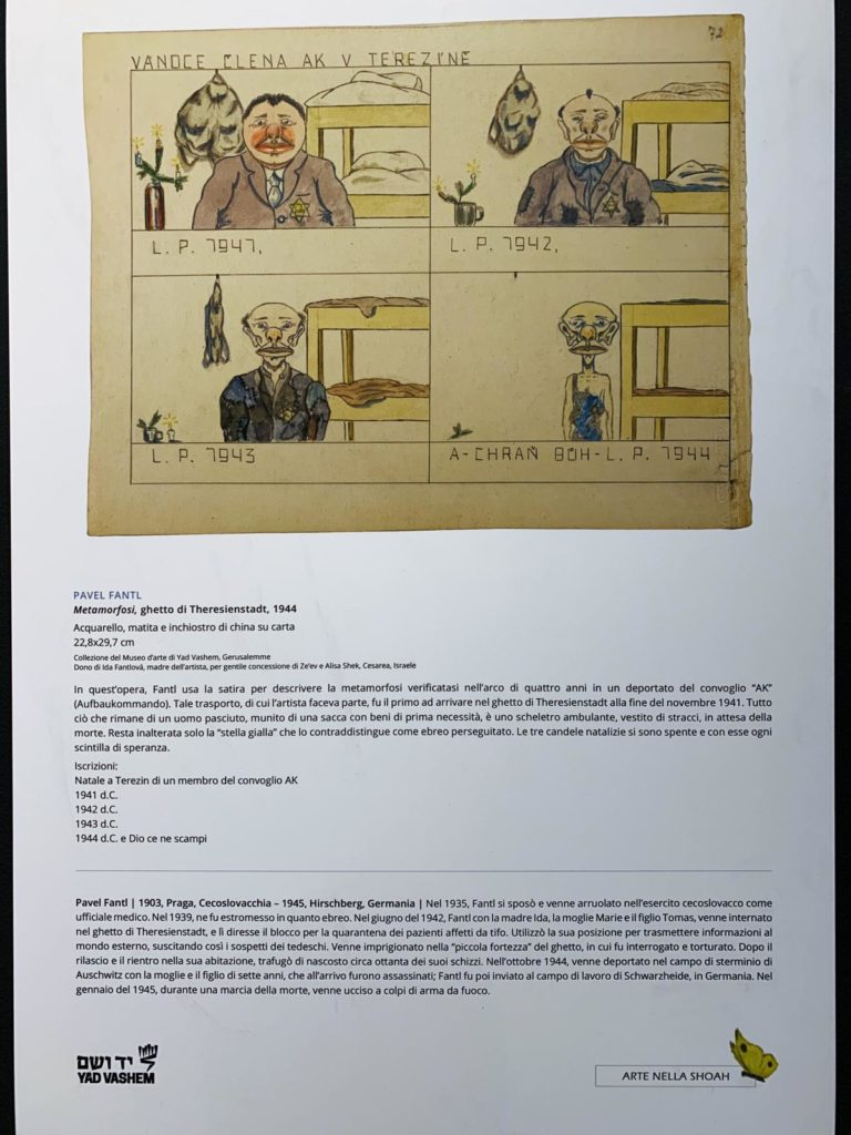 opere mostra arte shoah