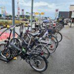 bici in aeroporto a Bergamo