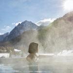 piscina panoramica montagna